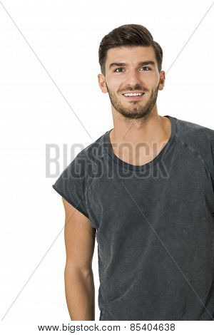 Handsome Bearded Young Man With A Lovely Smile
