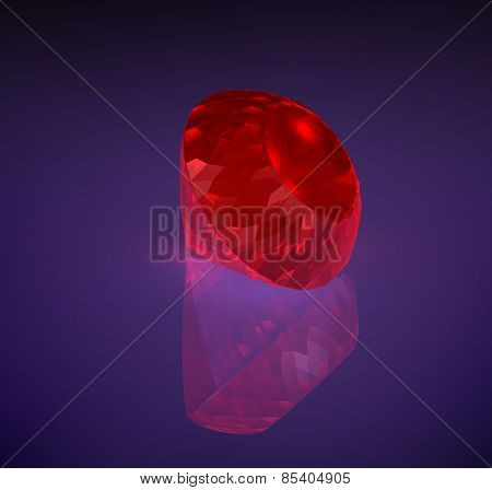 Large Red Diamond