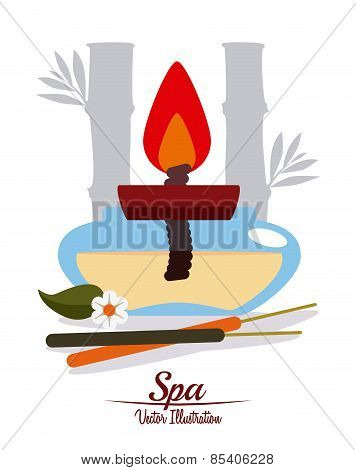 Spa design over background vector illustration