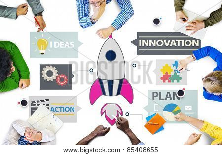 New Business Innovation Strategy Technology Ideas Concept