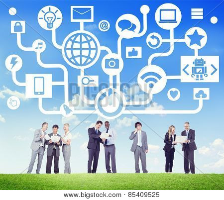 Global Communications Social Networking Digital Device Online Concept