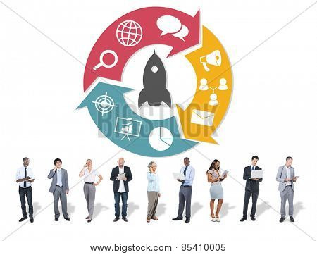 Business People and Global Business Concept
