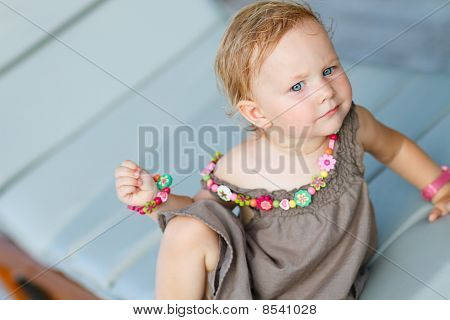Closeup Portrait Of Adorable Toddler Girl