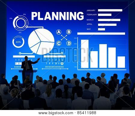 Business People Planning Strategy Information Seminar Concept