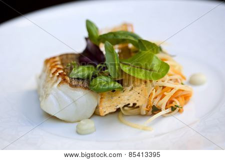 Cod Fillet And Vegetable