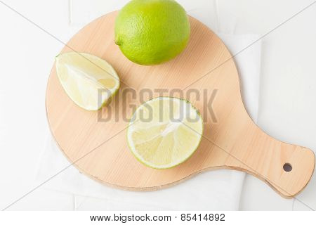 Limes On Choping Board