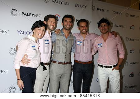 LOS ANGELES - MAR 15:  Justin Baldoni, friends dressed as his charachter
