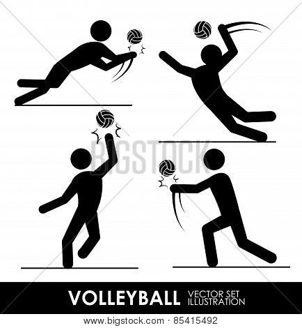 volleyball design over white background vector illustration