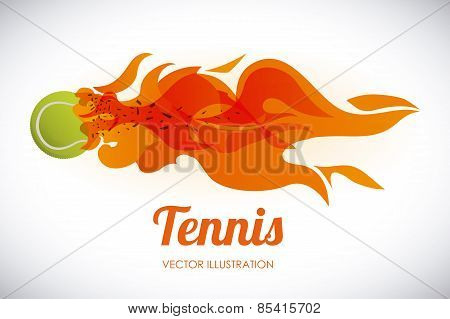 tennis design over tennis background vector illustration