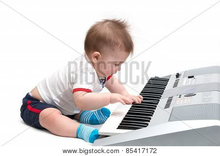 Little Baby Playing Music