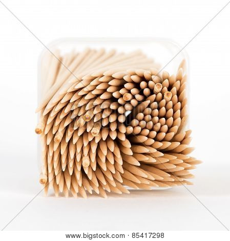 Macro of a Box of Toothpicks