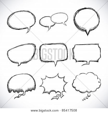 speech bubbles over white background vector illustration