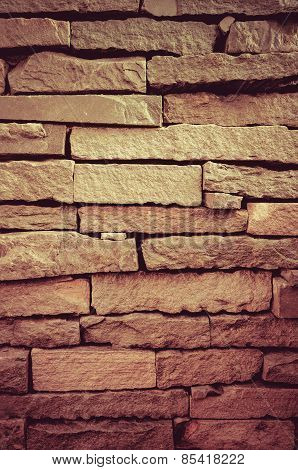 Old brick wall with grunge vintage color style