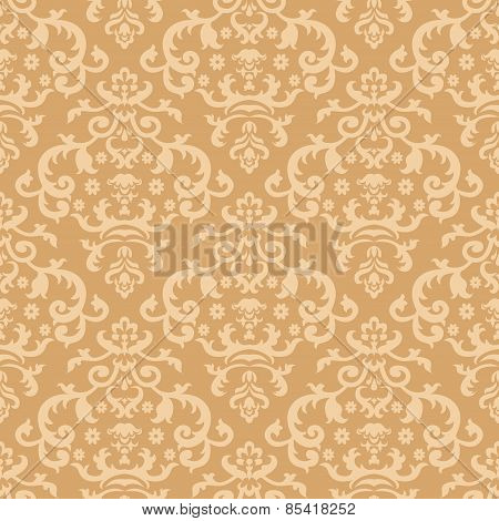 Illustration Of A Seamless Background With Vintage Ornament