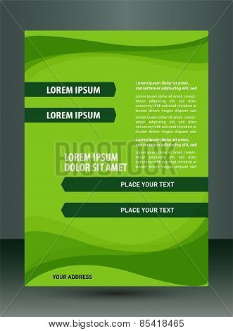 Green brochure design element template