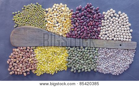 Lentils used in Indian cooking