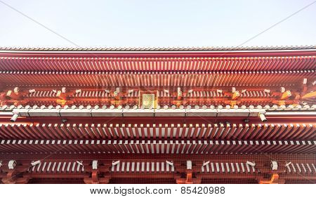 Roof Of Senjoji Temple In Japan