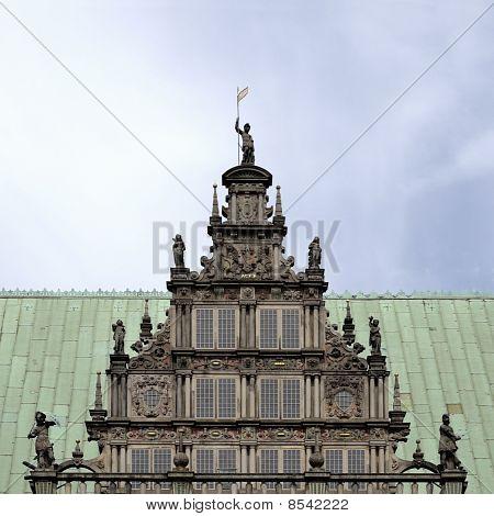 Bremen Medieval Town Hall Detail