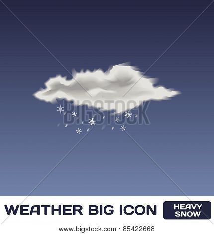 PrintVector Heavy Snow Icon