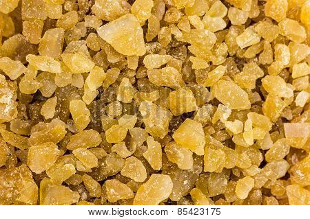 rock sugar made from date palm background