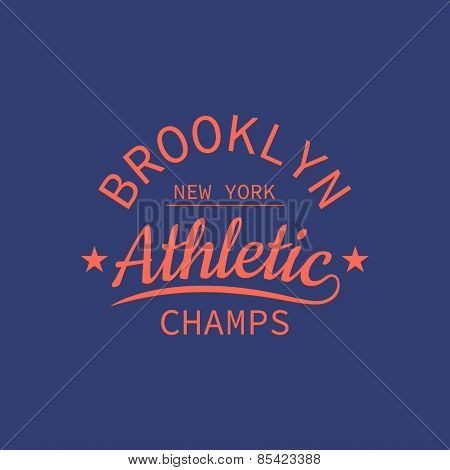 Brooklyn Athletic Champs Stamp For Typography