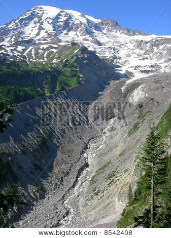 Nisqually glacier on Mount Rainier