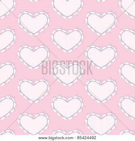 Rabbits Heart Background
