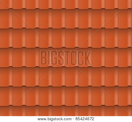 Roof tiles - vector seamless pattern