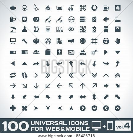 100 Universal Icons For Web and Mobile Set 4