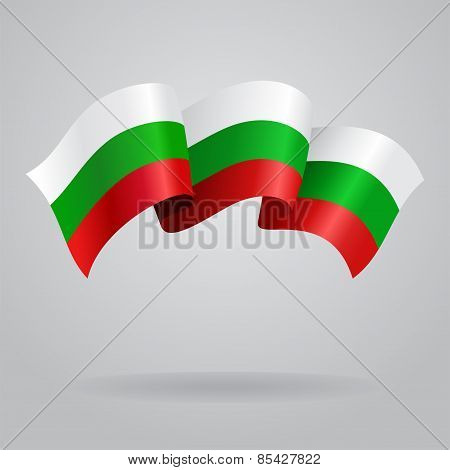 Bulgarian waving Flag. Vector illustration
