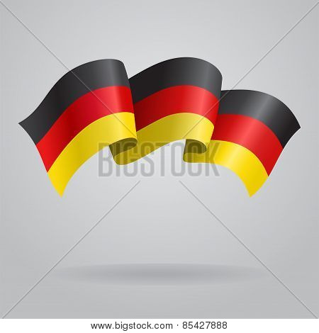 German waving Flag. Vector illustration