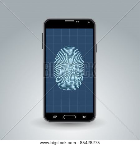 Fingerprint on smartphone