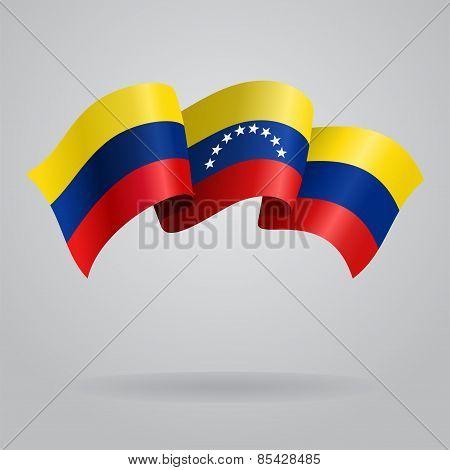 Venezuelan waving Flag. Vector illustration