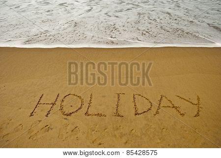 Holiday on sea beach