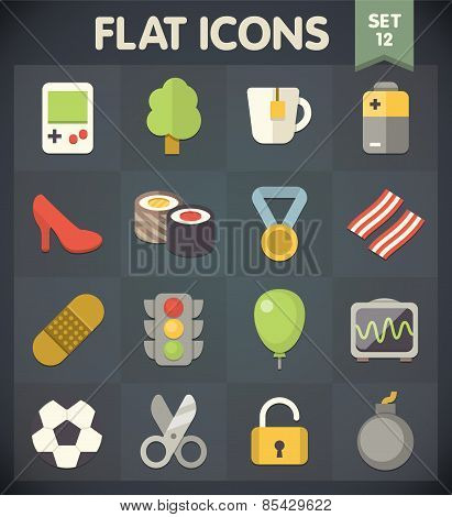 Flat Icons for Web and Mobile Applications Set 12