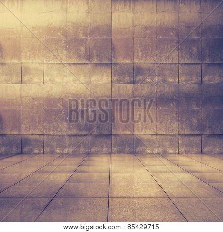 grungy modern interior, retro filtered, instagram style