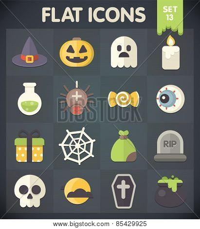 Flat Icons for Web and Mobile Applications Halloween