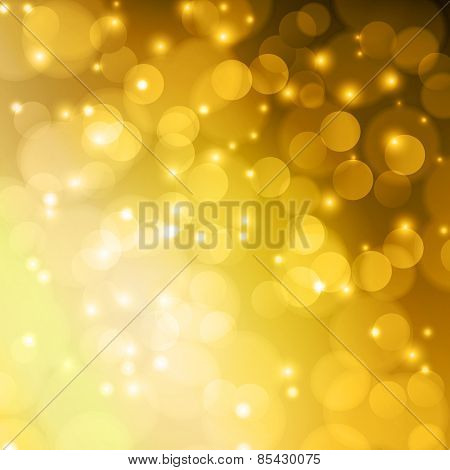 Gold Color bokeh abstract light background.