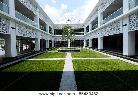 Courtyard of Cyberjaya Mosque in Cyberjaya, Malaysia