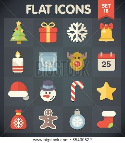 Flat Icons for Web and Mobile Applications Set 18