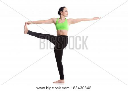 Stretched Hand Grasps Big Toe Yoga Asana