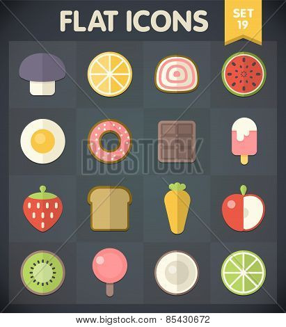 Flat Icons for Web and Mobile Applications Set 19