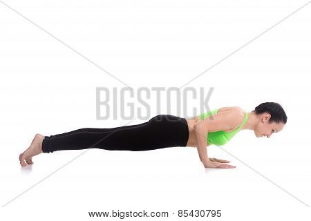 Chaturanga Dandasana, Four-limbed Staff Yoga Pose