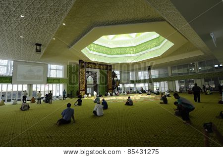 Main Prayer Hall of Cyberjaya Mosque in Cyberjaya, Malaysia