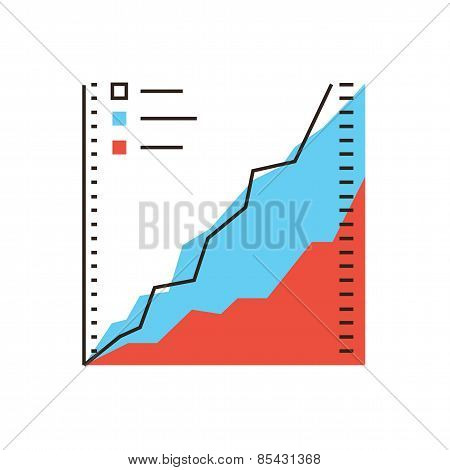 Data Analysis Flat Line Icon Concept
