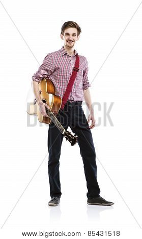 Young guitar player