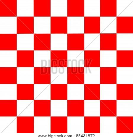 Red And White Checkered Abstract Background