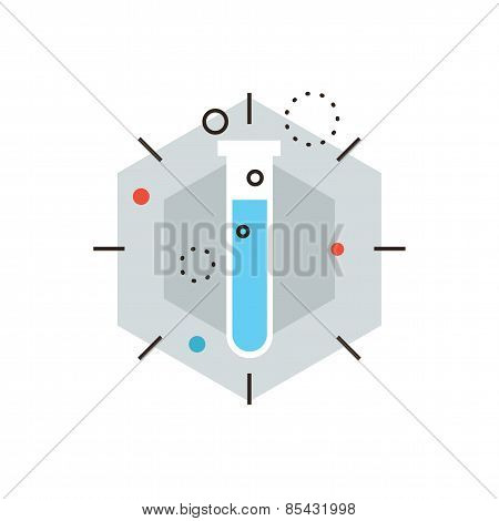 Laboratory Experiment Flat Line Icon Concept