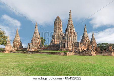 Wat Chaiwatthanaram Temple In Ayutthaya,thailand
