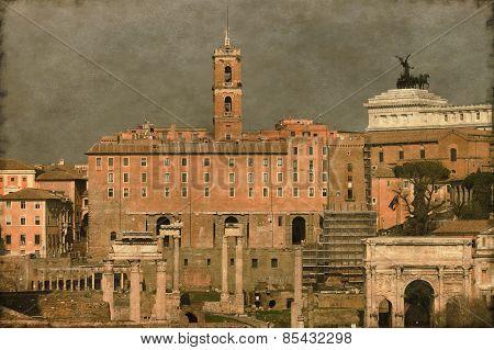 The Roman Forum - Vintage